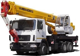Автокран Ивановец 25 тонн 31 м